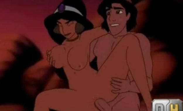 Filme completo Aladdin fudendo gostoso princesa jasmine na praia Hentai