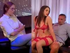 Esposa Assistindo Stripper Gostosa Fudendo Seu Marido Sortudo