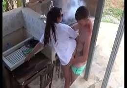 Sexo no Churrasco , com video amador gravado pela camera